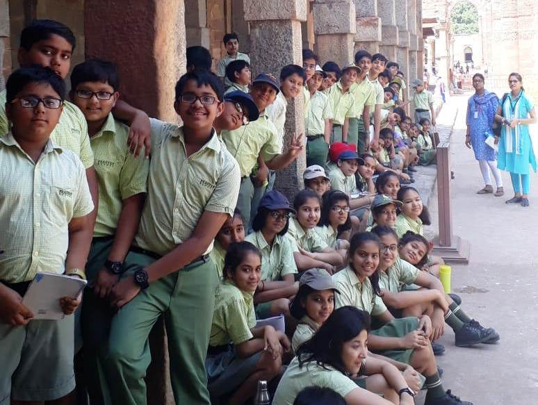 An educational outing to Qutub Minar on 13th April 2018